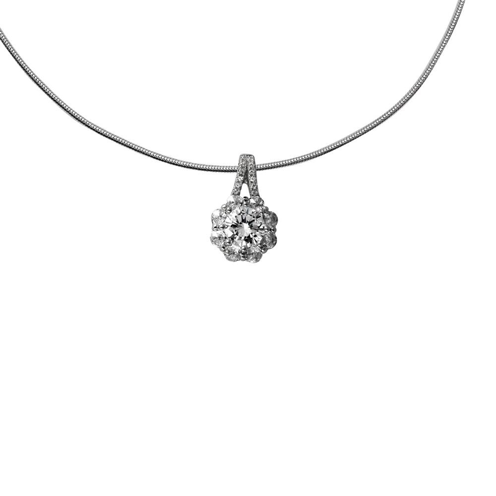 Diamonfire Zilveren Hanger Inc Collier 45 Cm - Bridal Entourage Zirkonia 803.0257.45