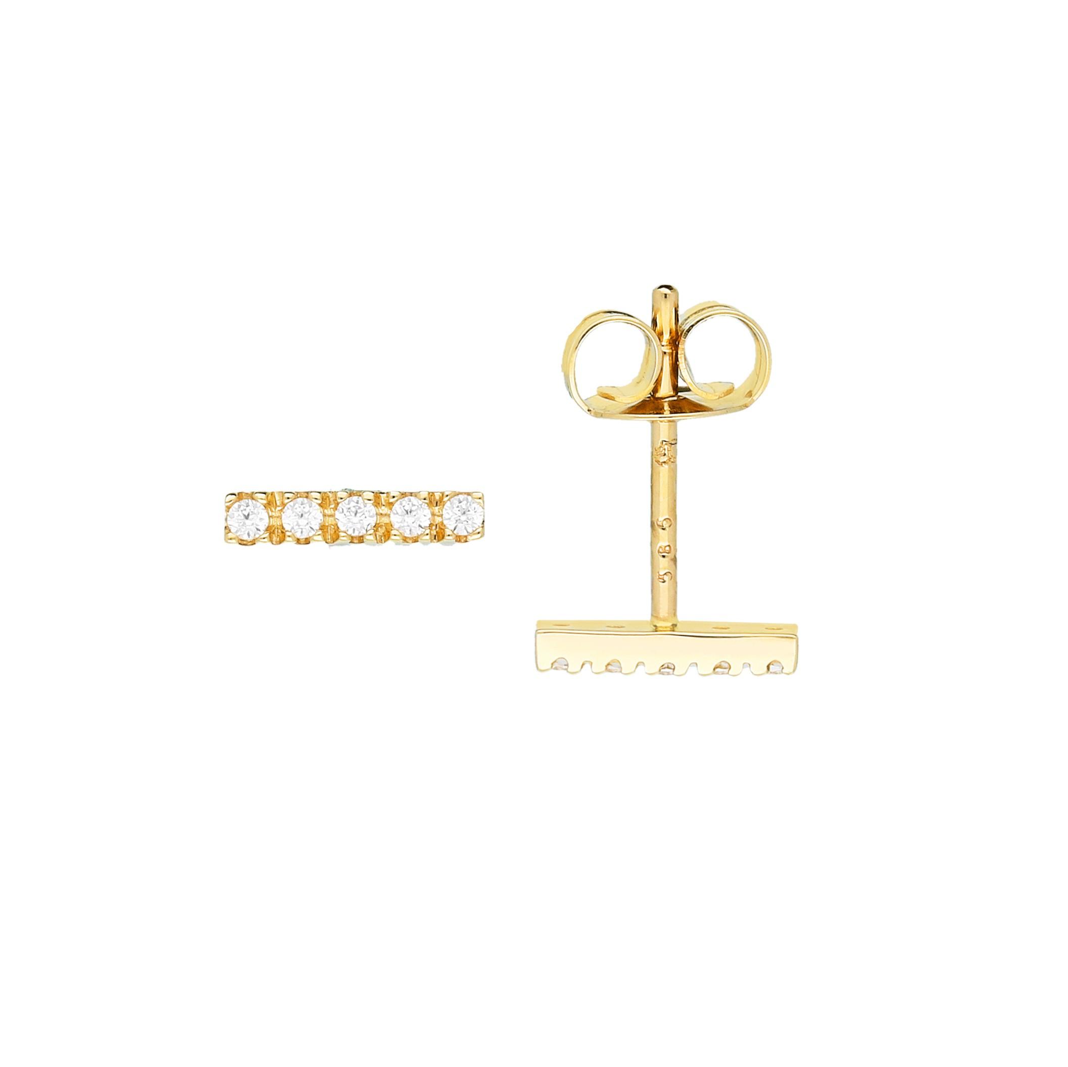 Glow Gouden Fantasieoorknoppen Gold Collection Staafjes - Zirkonia 206.2036.00