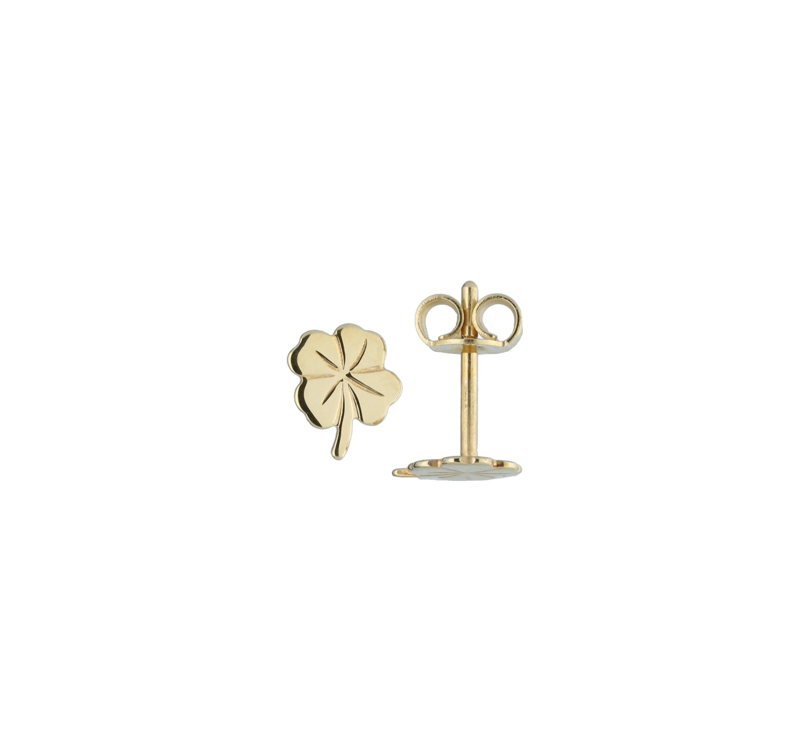 Glow Gouden Kinderoorknopjes - Klaver-4  206.0483.00