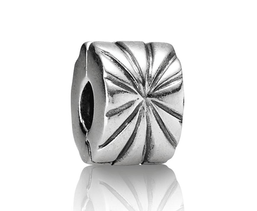 Pandora bedel Clip-stopper zilver 'Vuurwerk' 790210