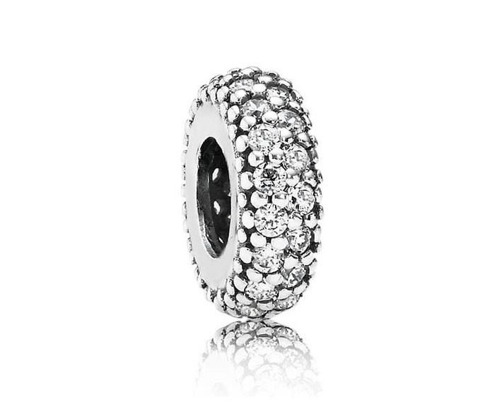 Pandora Spacer bedel zilver 'Wit' 791359CZ