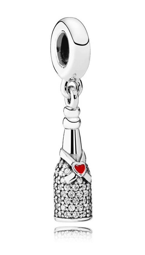 Pandora hangbedel zilver Sparkling Wine 792152CZ