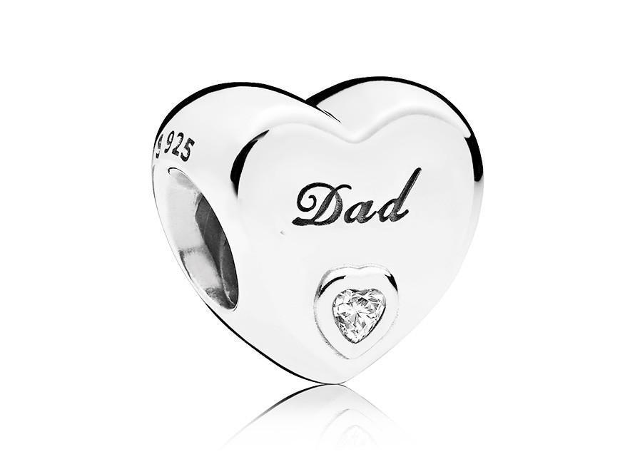 Pandora Bedel zilver Dad, vader of Papa 796458CZ