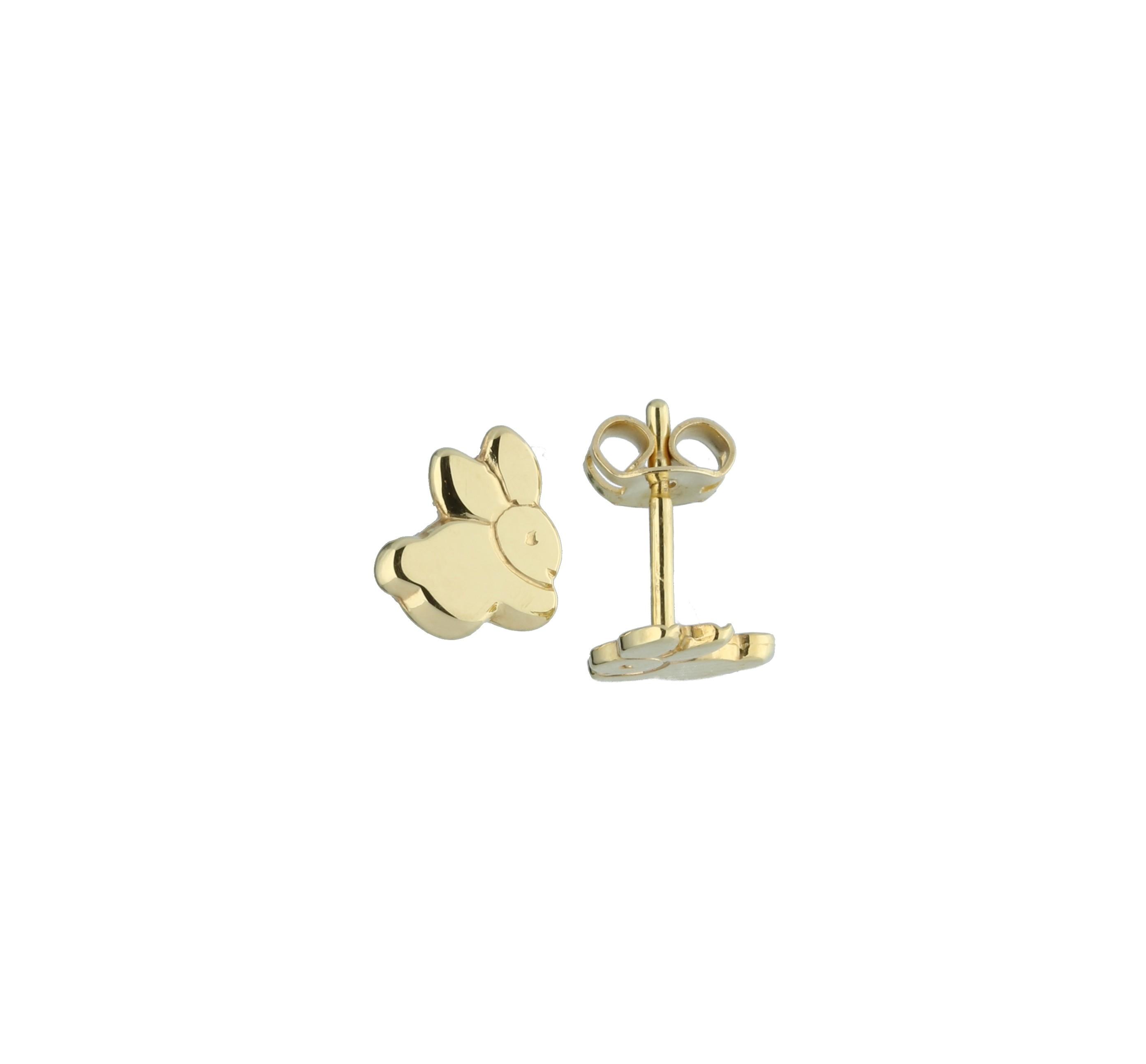 Glow Gouden Kinderoorknopjes - Konijn  206.0485.00