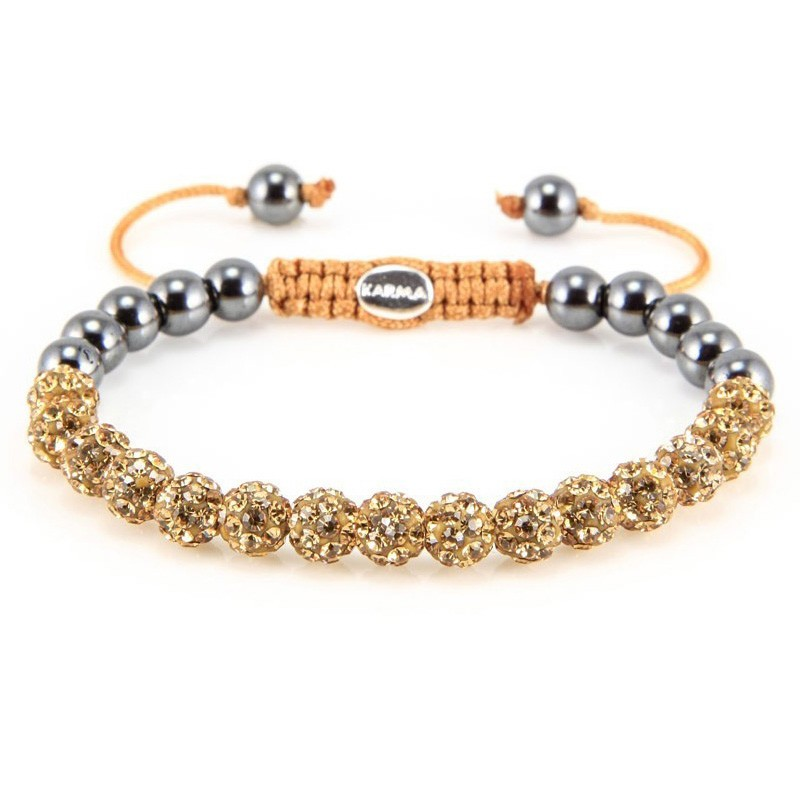 Karma Armband 'Spiral Dorado Crystal' XS 82080