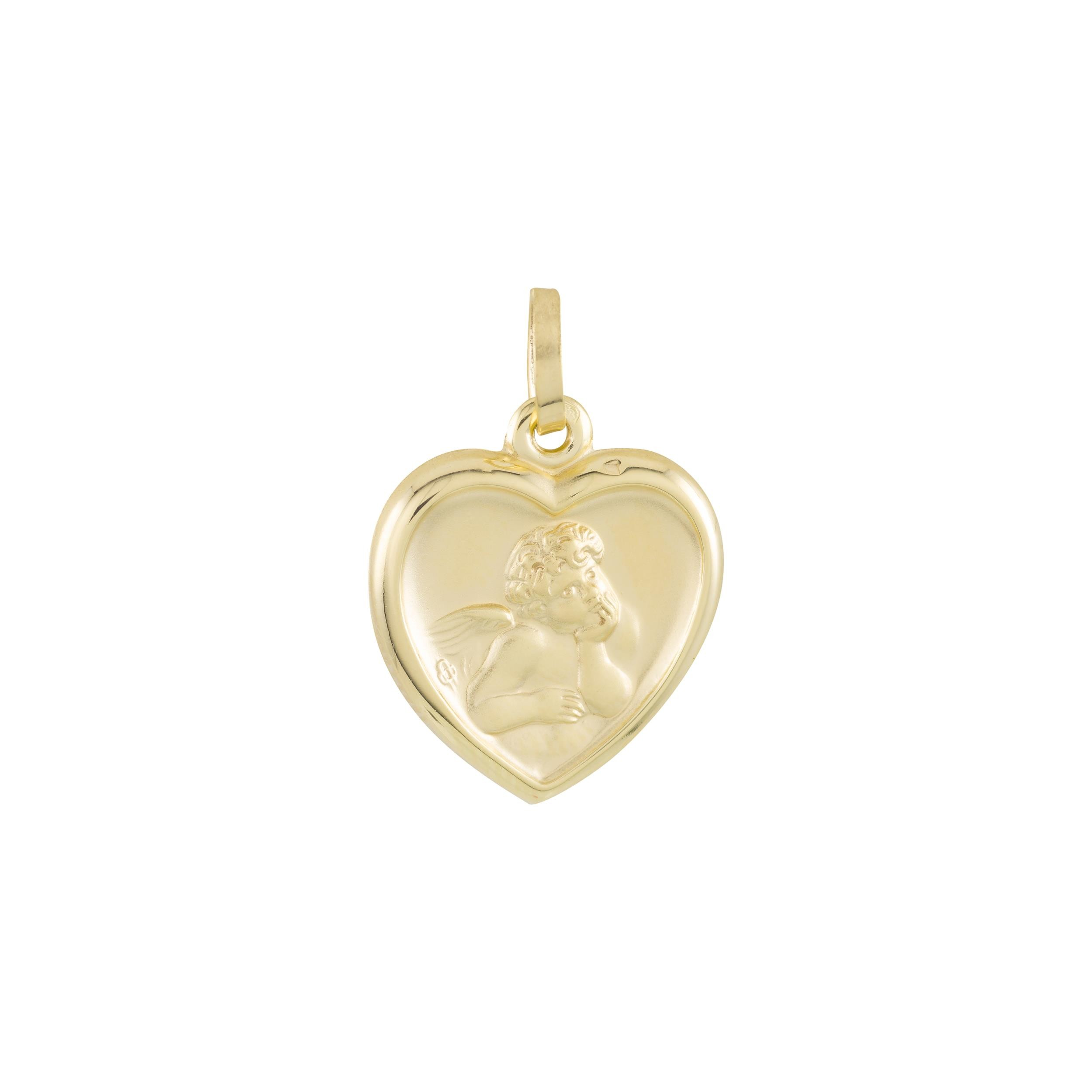 Gouden religious 21 x 14 mm - cupido - hart - hol 247.0051.00
