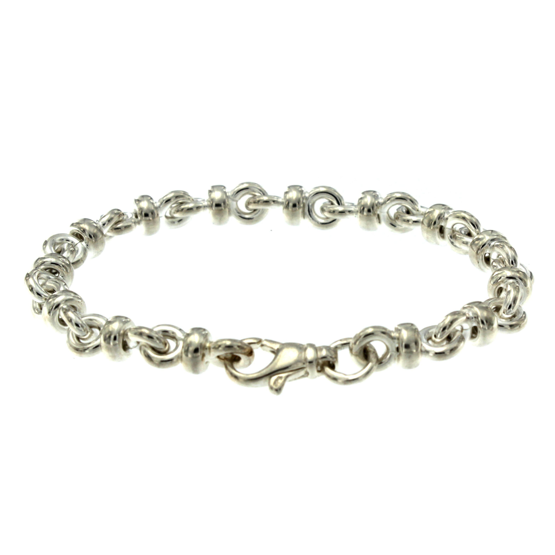 Zilveren schakelarmband best basics Jasseron fantasie 104.0266.19