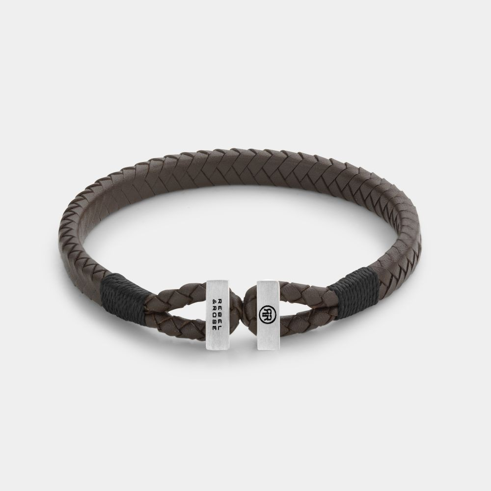 Rebel and Rose RR-L0108-S Armband Connected Brown Black - M   M 19,5 cm 1