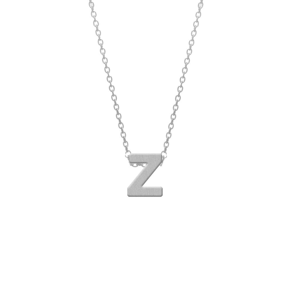 CO88 Collection 8CN-11025 - Stalen collier - letterhanger Z 9 mm - lengte 42+5 cm - zilverkleurig