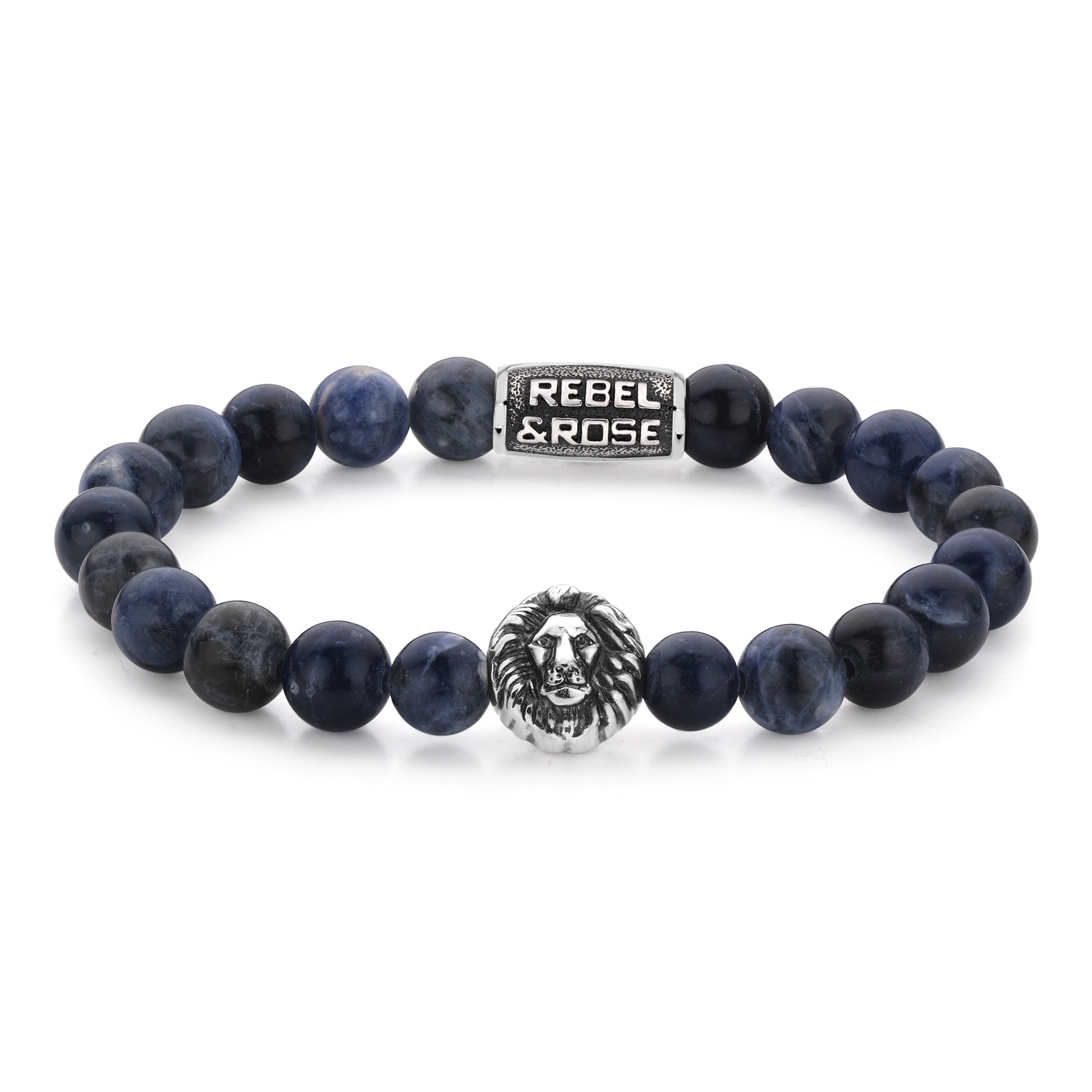 Rebel and Rose RR-8L030-S-M Armband Midnight Blue M 8mm 17.5