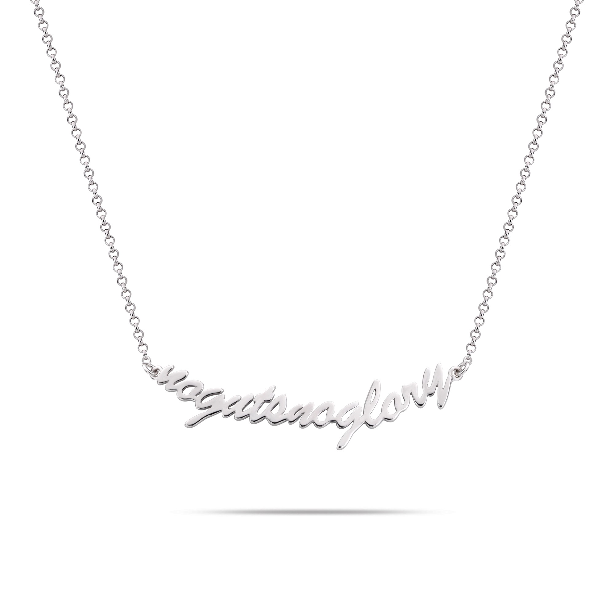 Rebel and Rose RR-NL007-S-49 Collier Necklace NoGutsNoGlory Silver 925 - 42cm S