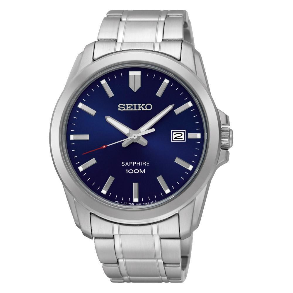 Seiko SGEH47P1 Herenhorloge blauwe wijzerplaat saffierglas 41 mm