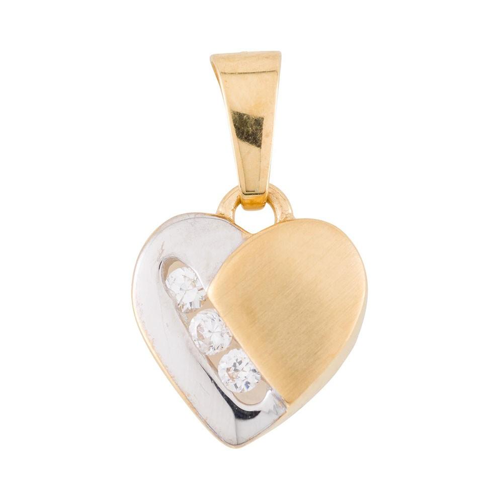 Glow Gouden Hanger Hart bicolor 220.0047.00