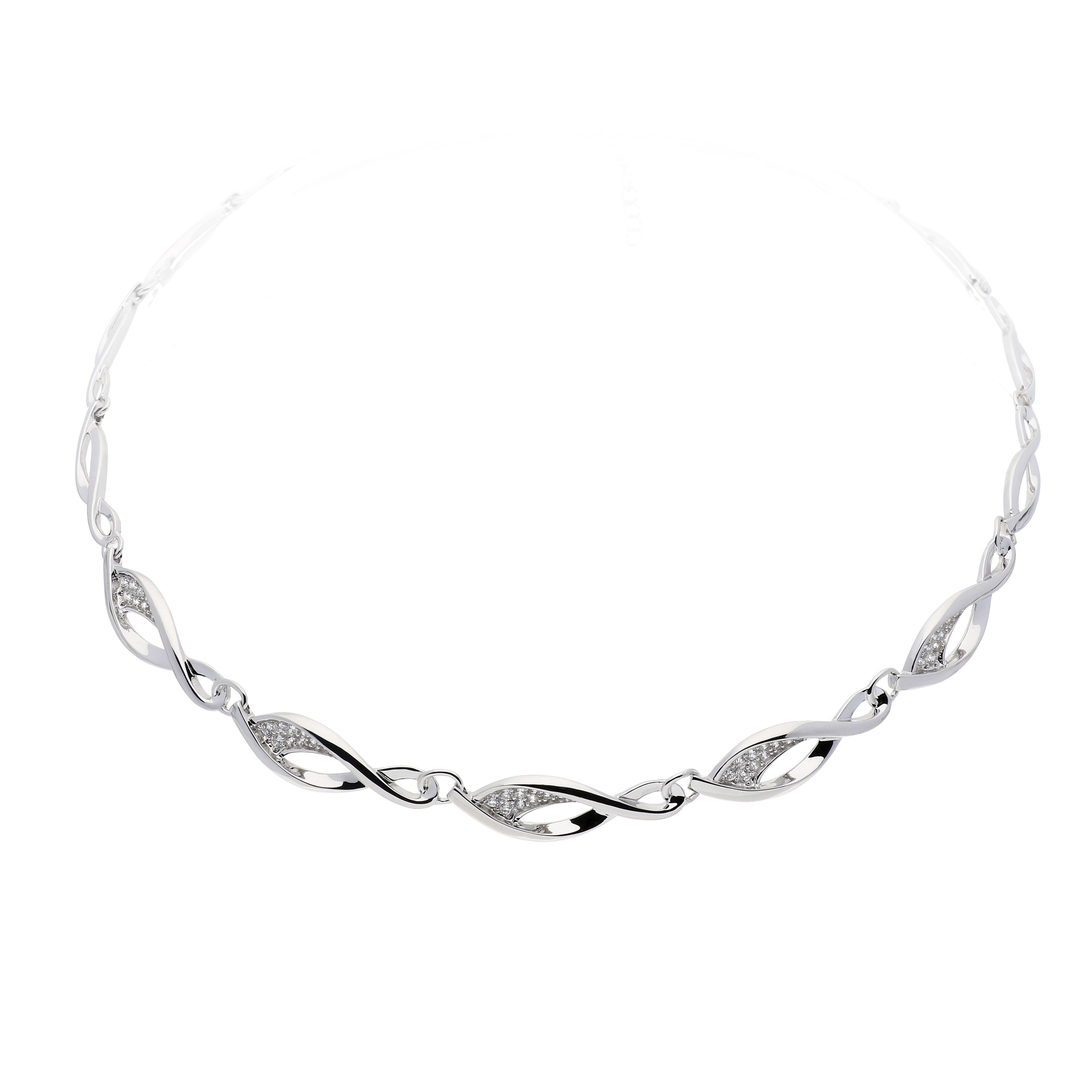 Elegance Choker zilver met zirconia 42-46 cm 103.1043.42