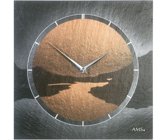 AMS 9513 Wandklok Leisteen met Airbrush