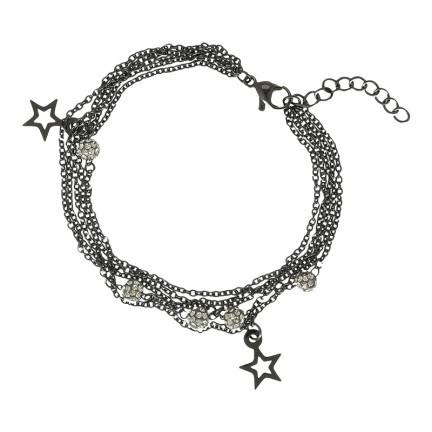 IXXXI Armband Chain Ball Star goudkleurig 17-20 cm B0021699005