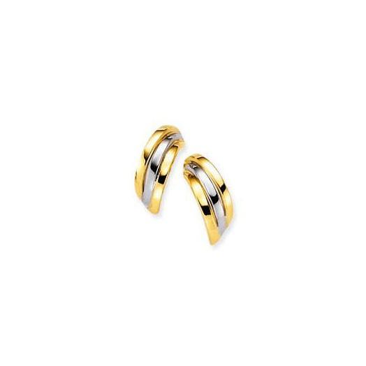 Glow 206.0355.00 gouden Oorbellen Bicolor 10 mm