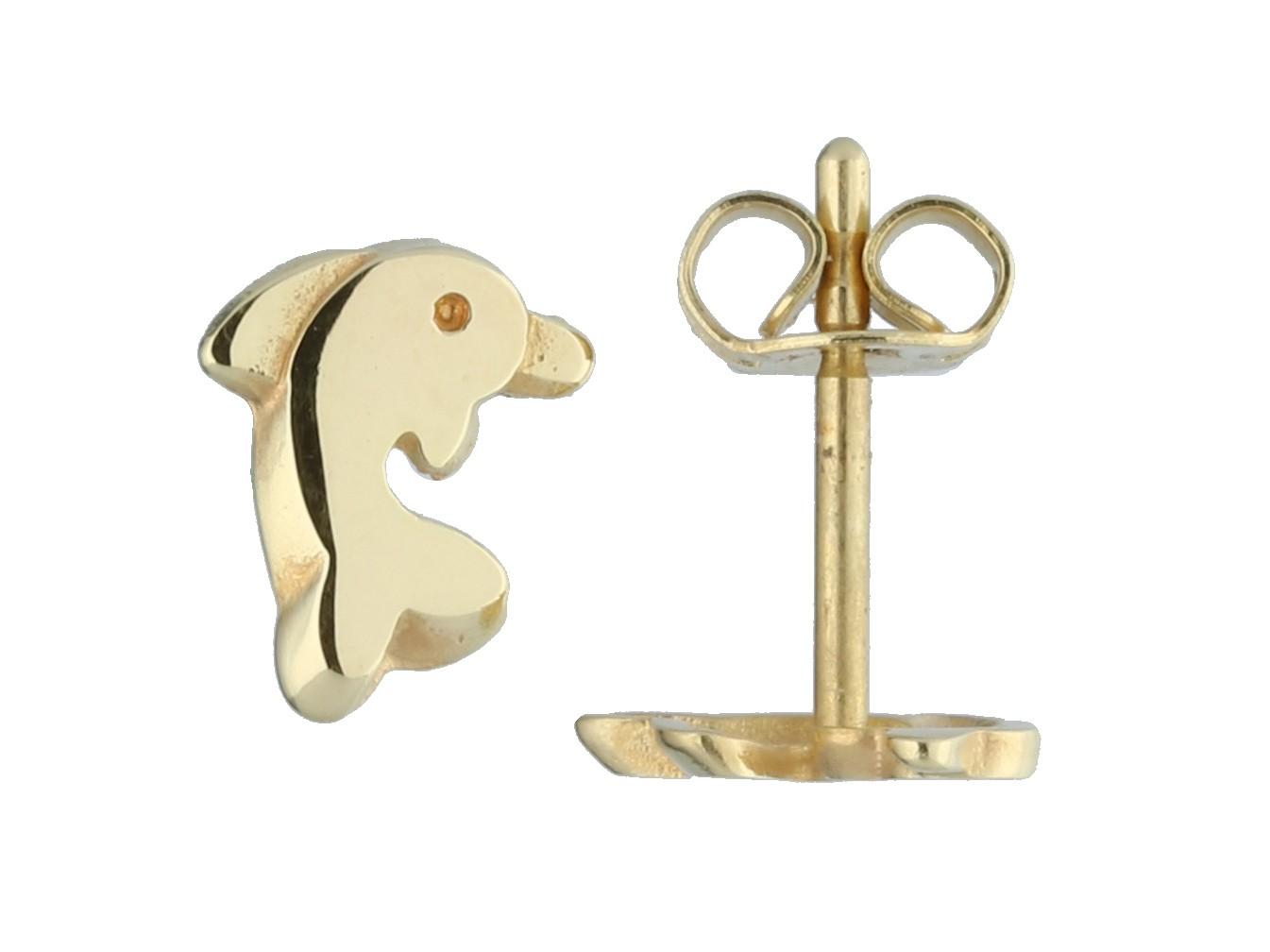 Glow Gouden Kinderoorknopjes - Dolfijn 206.0480.00