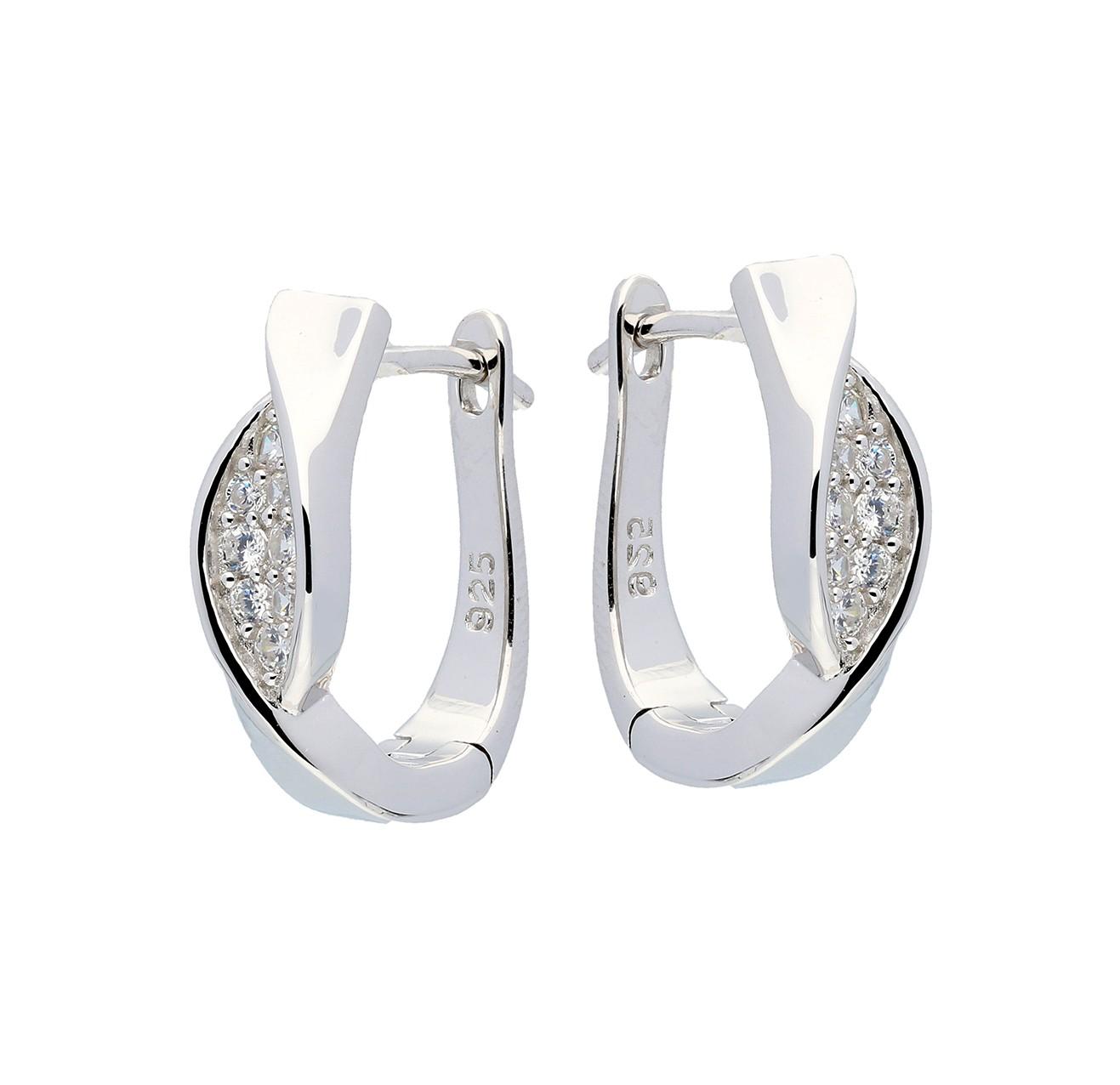Elegance Zilveren oorbellen met zirconia 107.6200.00