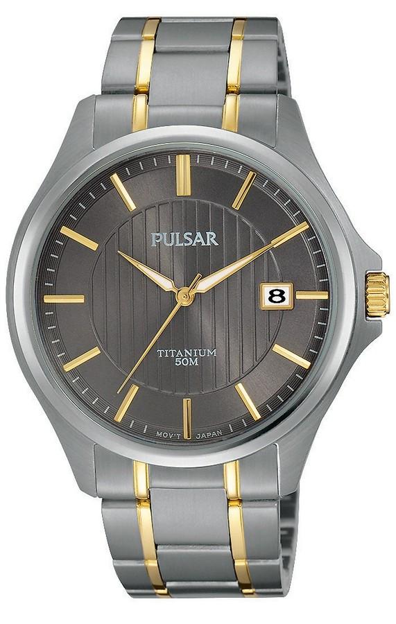 Pulsar Herenhorloge titanium tweekleurig PS9429X1