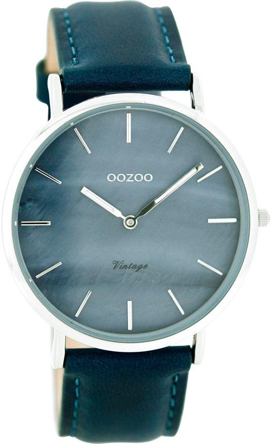 OOZOO C7768 Horloge Vintage zilverkleurig-petrol