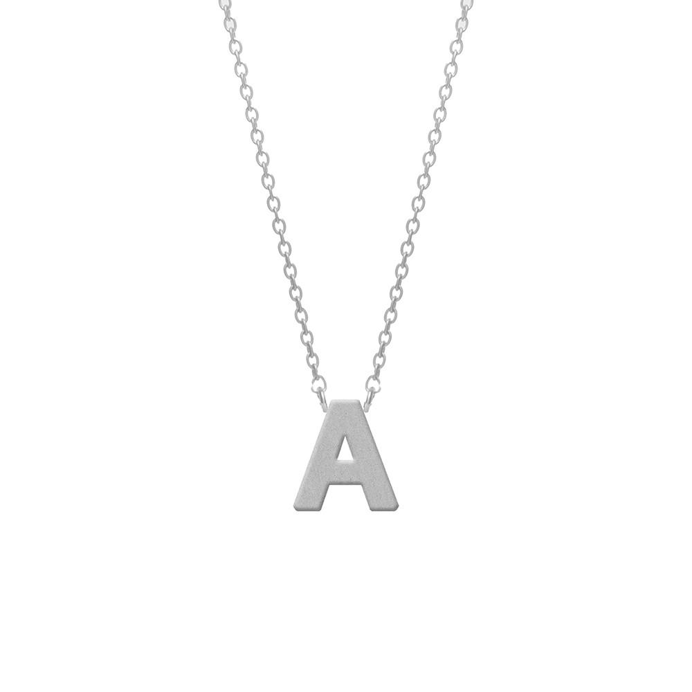 CO88 Collection 8CN-11000 - Stalen collier - letterhanger A 9 mm - lengte 42+5 cm - zilverkleurig