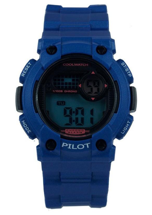Coolwatch Kinderhorloge Pilot digitaal blauw CW.276