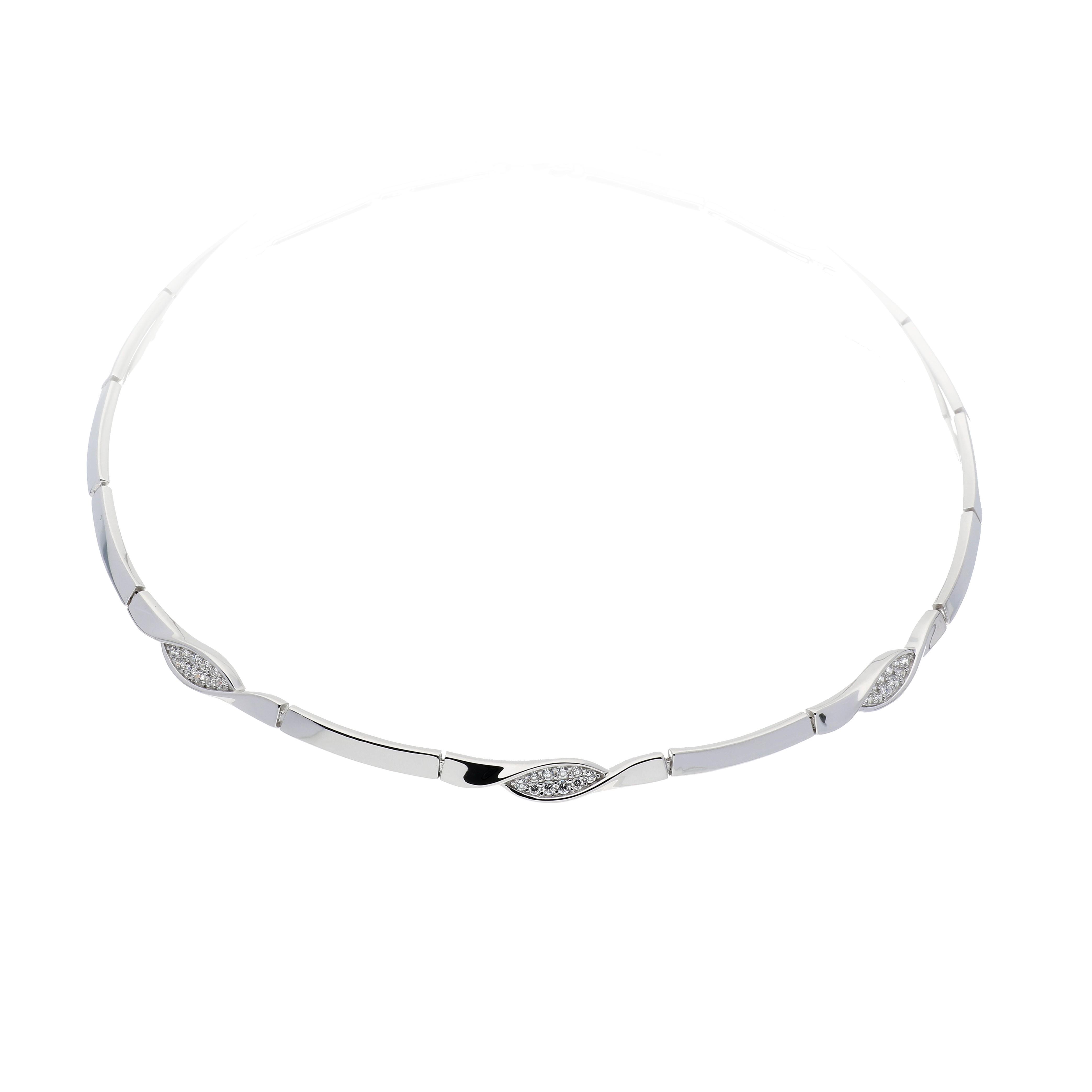 Zilveren Ketting choker met zirconia 45 cm 103.6200.45