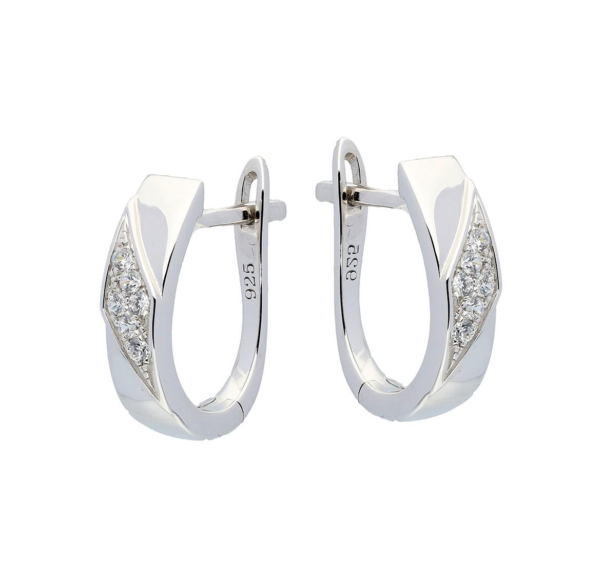 Elegance Zilveren Oorbellen met zirconia 107.6203.00