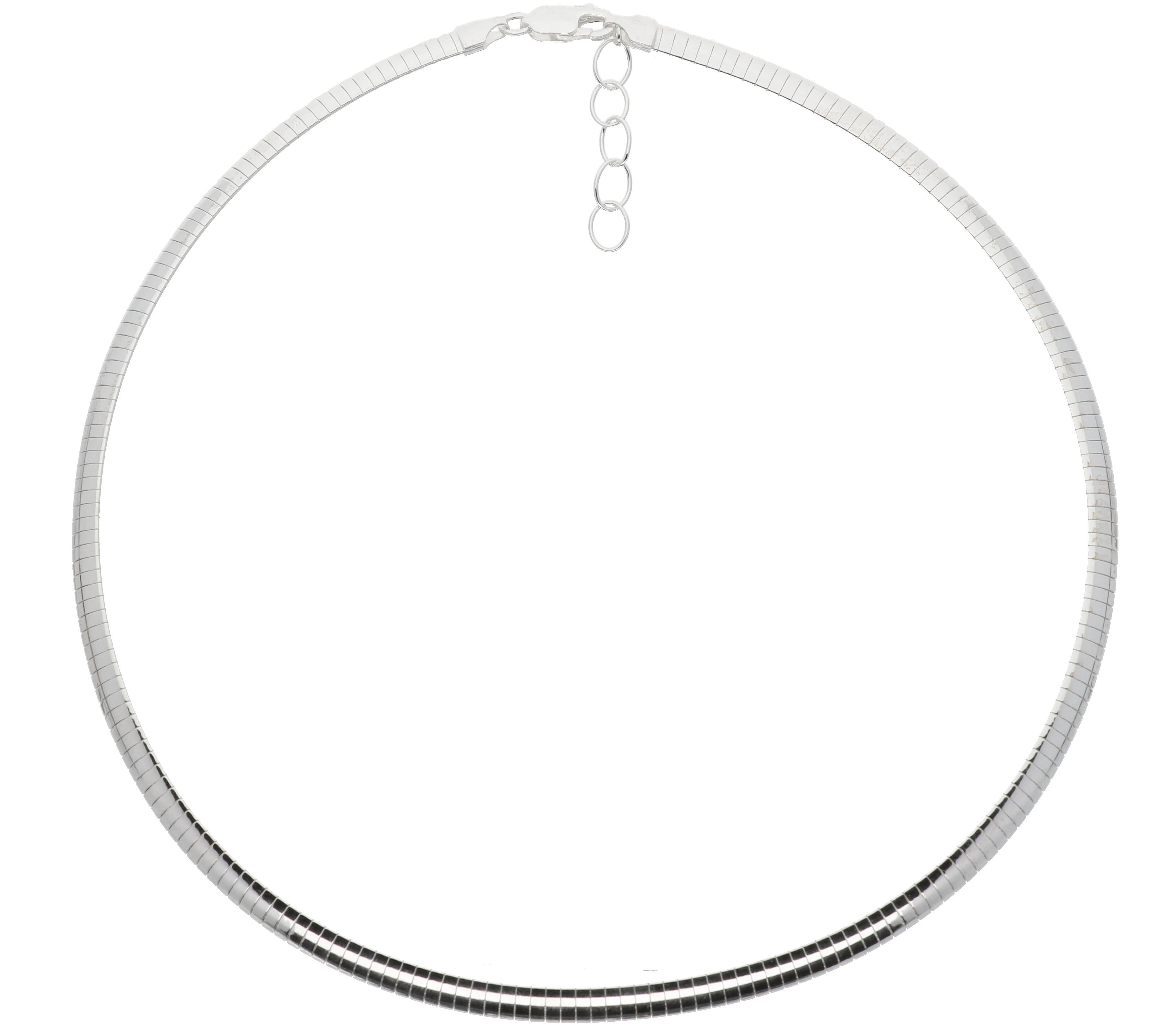 Zilveren omegacollier best basics Halfrond 5.0 mm 103.7038.43