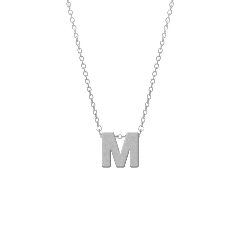 CO88 Collection 8CN-11012 - Stalen collier - letterhanger M 9 mm - lengte 42+5 cm - zilverkleurig