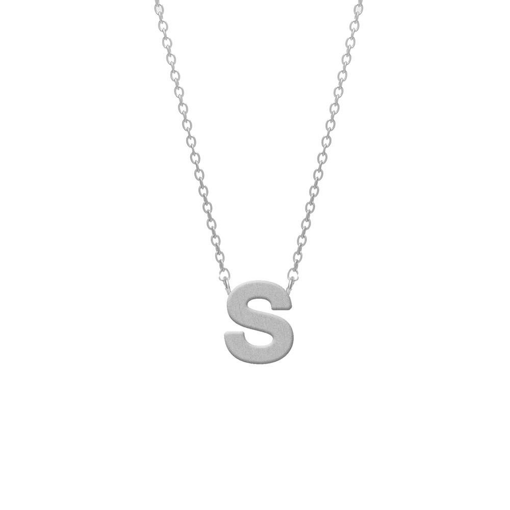 CO88 Collection 8CN-11018 - Stalen collier - letterhanger S 9 mm - lengte 42+5 cm - zilverkleurig