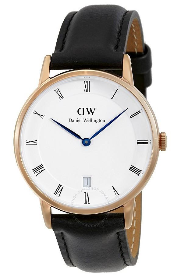 Daniel Wellington Horloge Dapper Sheffield rosé-black 36 mm DW00100092