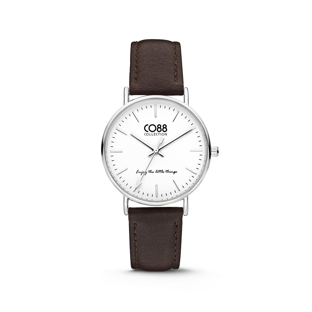 CO88 Collection 8CW-10004 - Horloge - Leer - donker bruin - 36 mm