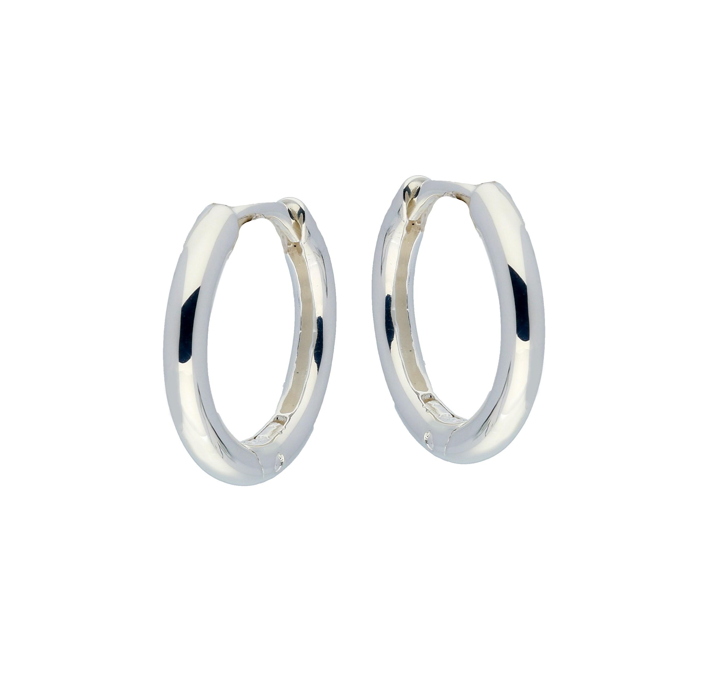 Zilveren klapcreolen - ronde buis 2.5 mm  107.0067.16