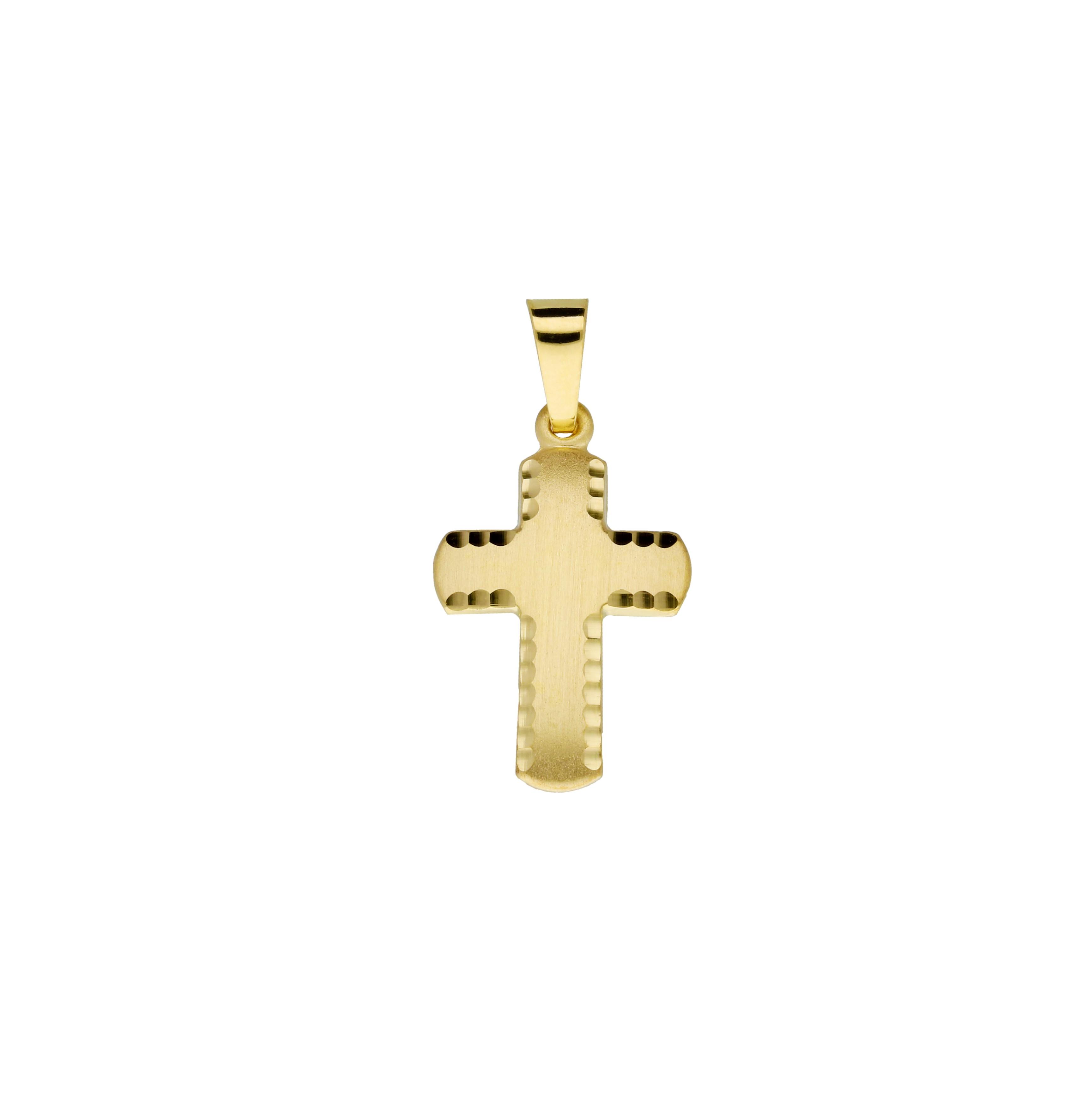 Religious Gouden Kruisje - 23 X 11.5 Mm Mat Glanzend 246.0143.00
