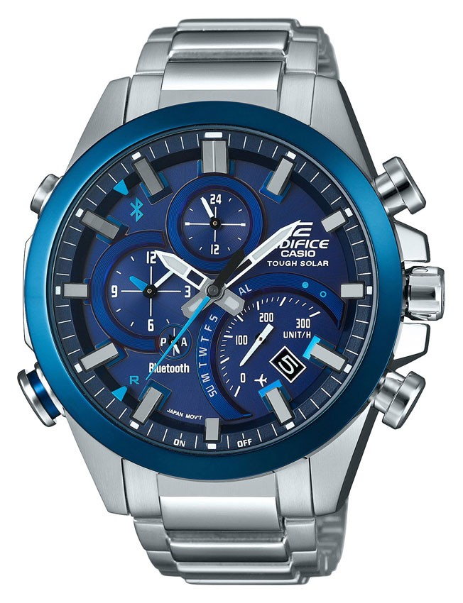 Casio Edifice Chronograaf, Solar & Bluetooth 4.0 EQB-500DB-2AER