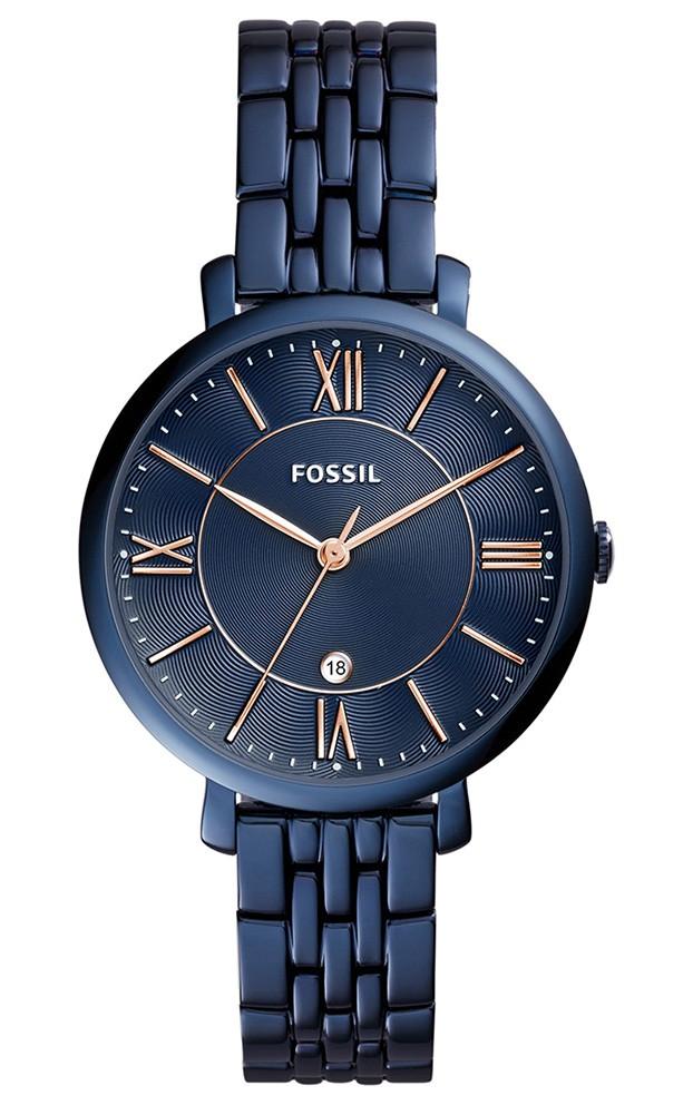 Fossil Dameshorloge Jacqueline rosékleurig/blauw ES4094