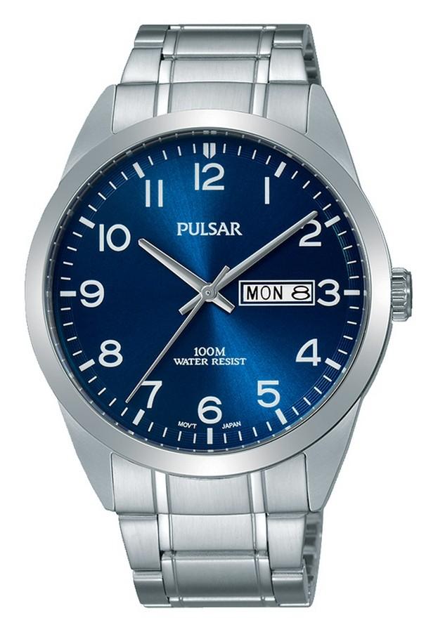 Pulsar PJ6061X1 Herenhorloge Blauwe wijzerplaat 38 mm