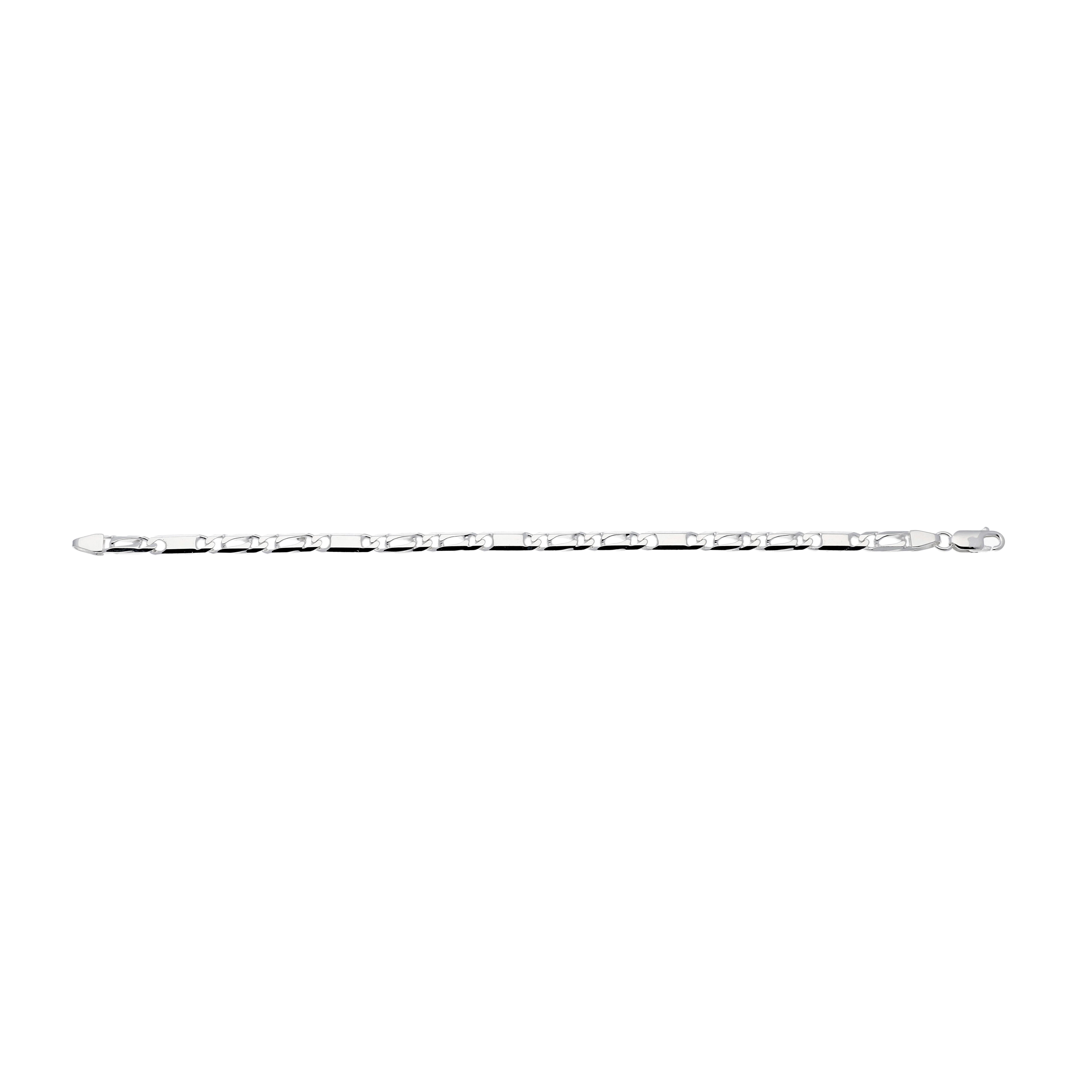 Zilveren schakelarmband best basics Valkenoog met plaatjes - 4.2mm - 19cm 104.0149.19
