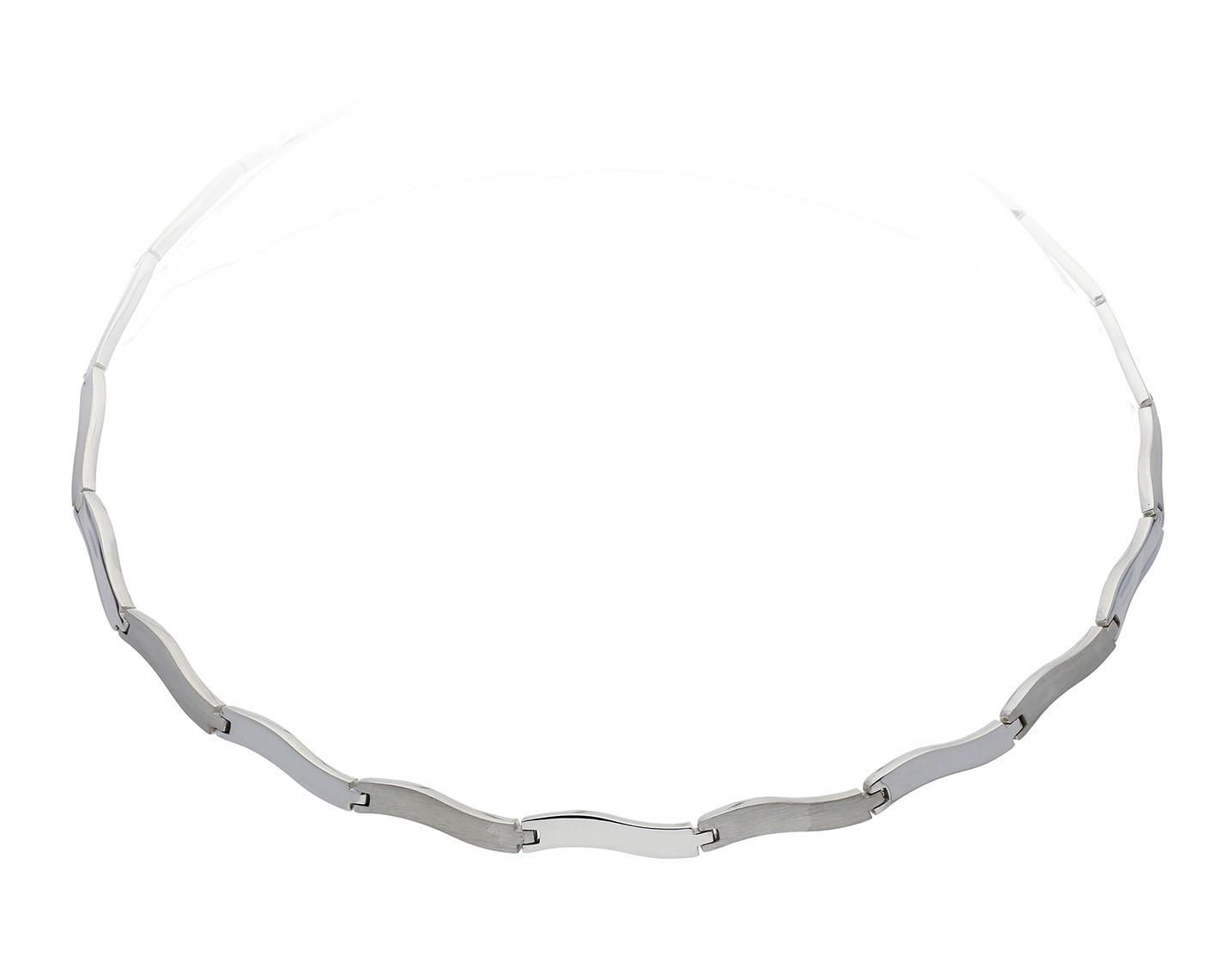 Zilveren ketting choker mat/glanzend 43 cm 103.0479.43