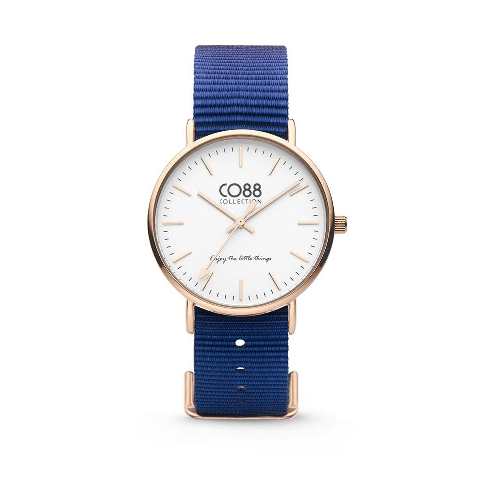 CO88 Collection 8CW-10017 - Horloge - Nato nylon - donker blauw - 36 mm