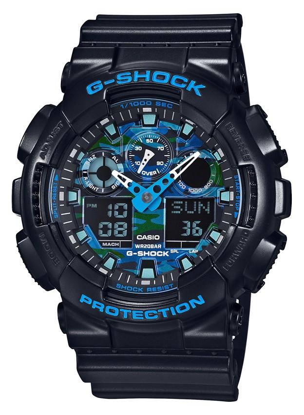 Casio G-Shock Analoog en Digitaal Blue GA-100CB-1AER