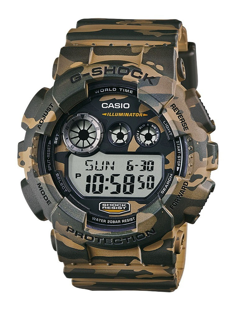 Casio G-Shock Chronograaf en Displayflitser GD-120CM-5ER