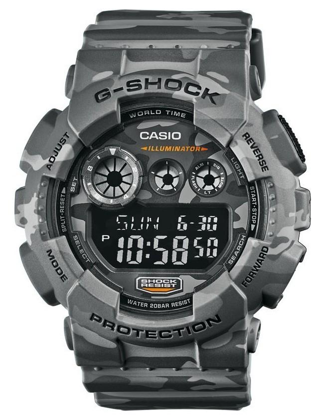 Casio G-Shock Chronograaf en Displayflitser GD-120CM-8ER