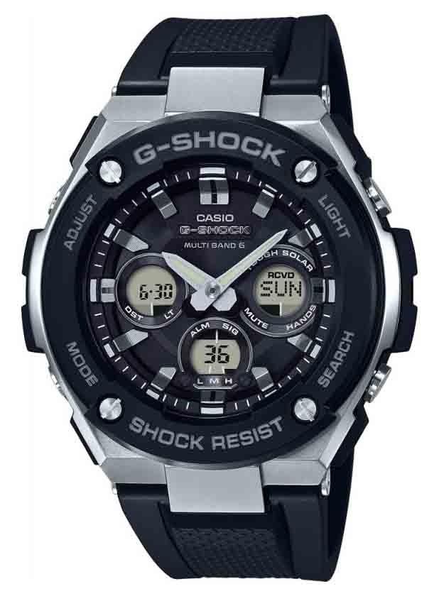 Casio G-Shock Steel Solar Radiogestuurd radiocontrolled GST-W300-1AER