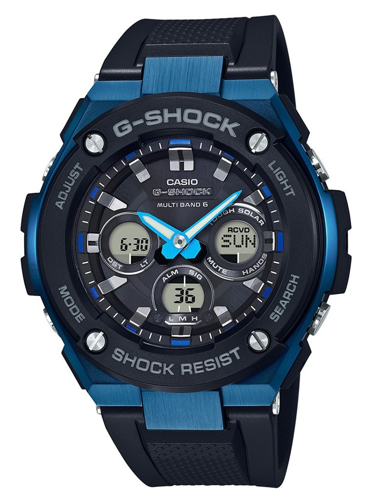 Casio G-Shock Steel Solar Radiogestuurd blauw GST-W300G-1A2ER