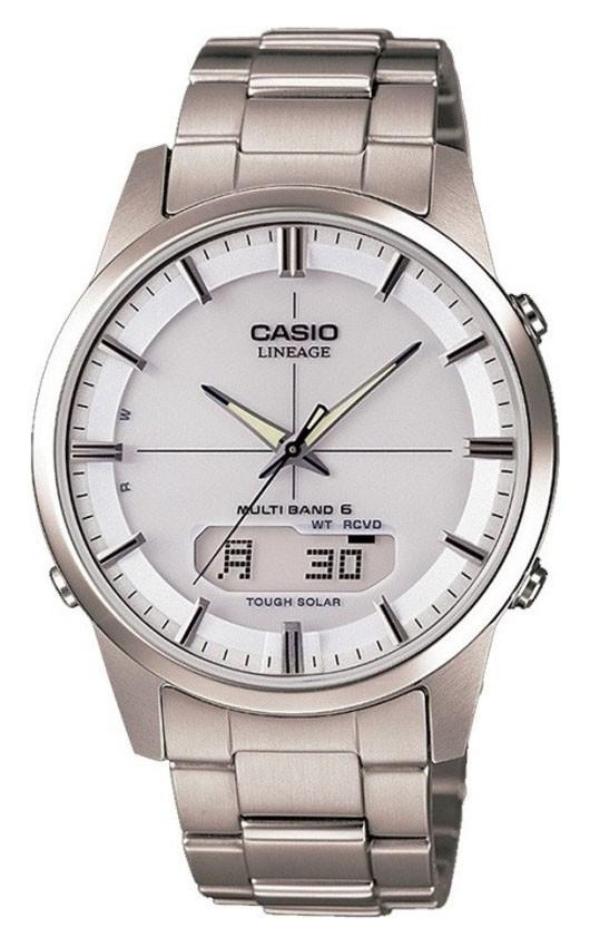 Casio 'Lineage' Analoog/Digitaal Zendergestuurd en Titanium LCW-M170TD-7AER