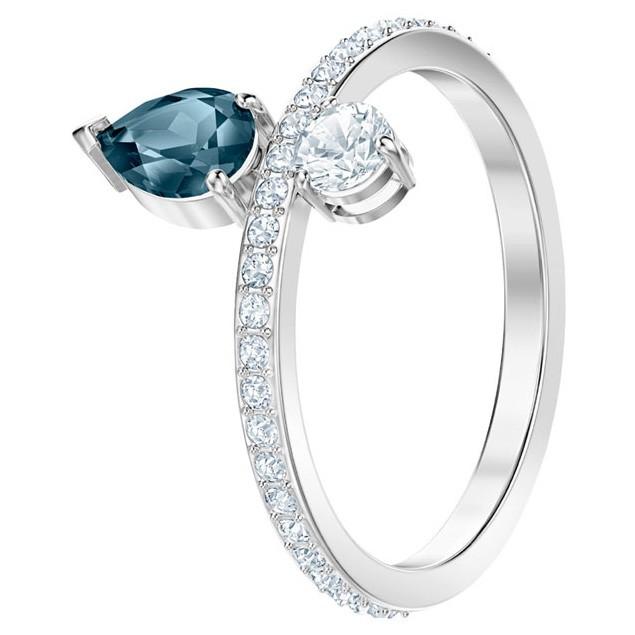 Swarovski 5457640 Ring Vintage zilverkleurig-blauw Maat 55