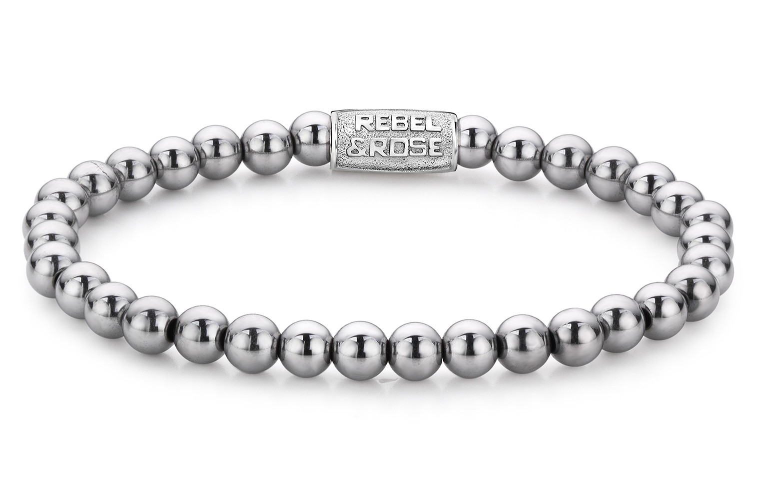 Rebel and Rose Armband 'Silver Shine' 19 cm RR-60020-S